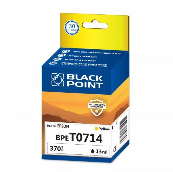 Black Point tusz BPET0714 zastępuje Epson T0714, żółty