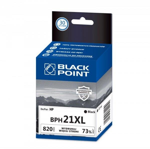 Black Point tusz BPH21XL zastępuje HP C9351CE, czarny