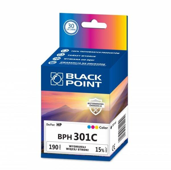 Black Point tusz BPH301C zastępuje HP CH562EE, trójkolorowy