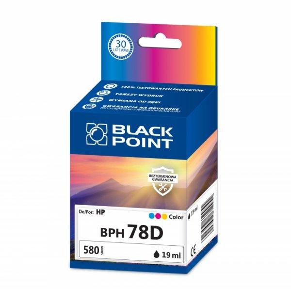 Black Point tusz BPH78D zastępuje HP C6578D, trójkolorowy