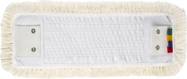 Mop płaski bawełniany 50cm kieszeń/klips