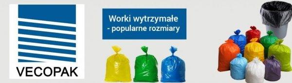 Worki na śmieci LDPE 120L 25szt. czarne