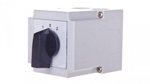 Łącznik krzywkowy 1-0-2 3P 10A w obudowie 4G10-26-PK