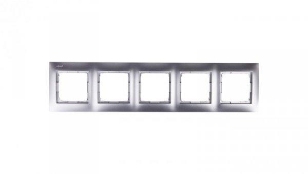 Simon 54 Premium Ramka pięciokrotna srebrny mat /do karton-gips/ DRK5/43