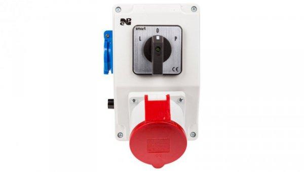 Zestaw instalacyjny z gniazdem 32A 5P+2P+Z RS-Z (L-0-P) czerwony 6275-20