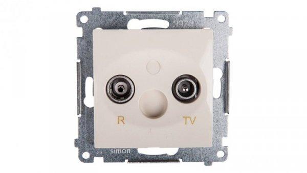 Simon 54 Gniazdo antenowe RD/TV przelotowe kremowe DAP10.01/41