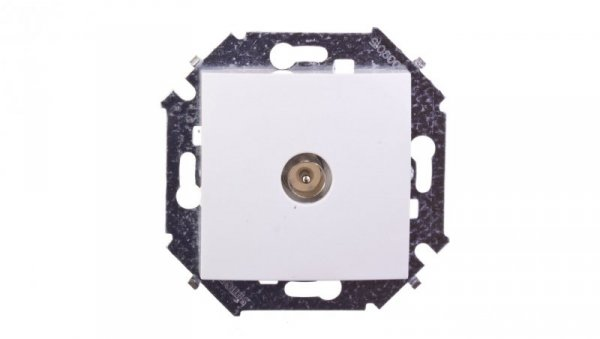 Simon 15 Gniazdo antenowe pojedyncze białe 1591475-030