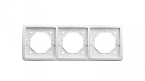 Simon Basic Standard Ramka bryzgoszczelna potrójna IP44 z uszczelką biała BMR3B/11