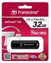 Transcend Pendrive JetFlash 700 32GB USB3.0 70/19 MB/s czarny