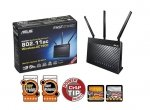 Asus Router RT-AC68U WiFi AC1900 4LANx1GB USB 2.0 USB 3.0 DualB