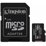 Kingston Karta pamięci microSD 128GB Canvas Select Plus 100MB/s Adapter