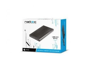 NATEC Kieszeń zewnętrzna HDD sata RHINO 2,5 USB 2.0 Aluminium Black