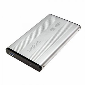 LogiLink Obudowa do HDD 2,5' SATA, USB 3.0, srebrna