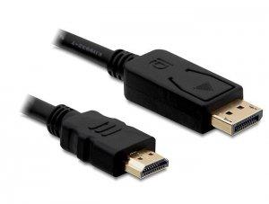 Delock Kabel DISPLAYPORT M->HDMI M 2M GOLD