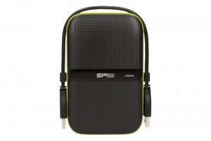 Silicon Power ARMOR A60 2TB USB 3.0 BLACK-GREEN/PANCERNY wstrząso/pyło i wodoodporny