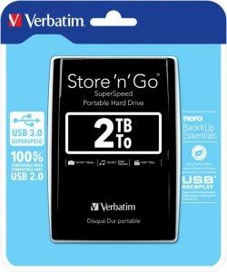 Verbatim Dysk USB HDD 2TB 2,5 Black store n go  USB 3.0
