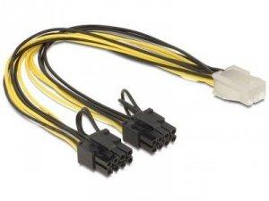 Delock Kabel rozdzielacz zasilania PCI EXPRESS 2x8PIN/1x6PIN