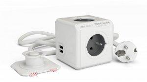 Allocacoc Listwa zasilająca PowerCube Extended USB 3m 2404/FREUPC Szara