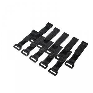 LogiLink Organizator kabli, rzep, 15cm, 10szt. czarny