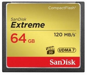 SanDisk Extreme CompactFlash 64GB 120/85 MB/s
