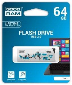GOODRAM CLICK 64GB USB2.0 WHITE