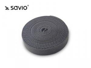 Elmak SAVORG-OC-04/G Organizer na kable, Taśma, Rzep, 3m x 20mm - szary