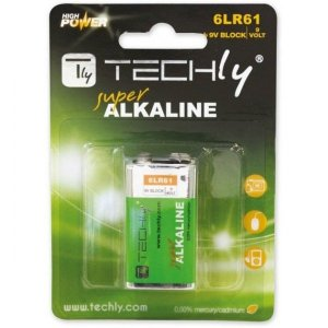 Techly Baterie alkaliczne LR61 9V 1szt, (IBT-LR61T9V)