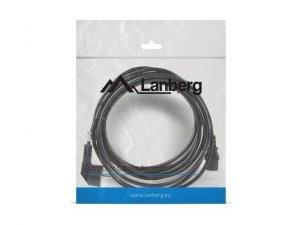 LANBERG Kabel zasilający CEE 7/7 - IEC 320 C13 VDE 5M czarny