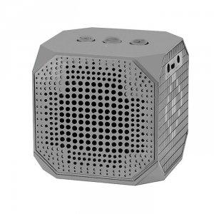 Qoltec Głośnik Bluetooth przenośny | 3W | Double Speaker | Szary