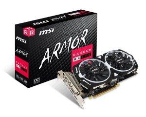MSI Karta graficzna Radeon RX 570 ARMOR 8GB OC 256BIT GDDR5 HDMI/DVI-D/3DP