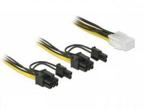 Delock Kabel rozdzielacz zasilania PCI Express 6Pin/2x PCI Express   8PIN 15cm