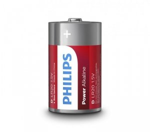 Philips Baterie Power Alkaline D 2szt. blister (LR20)