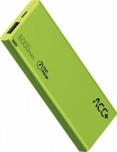 ACC+ Power Bank ACC+ THIN 6000 mAh zielony