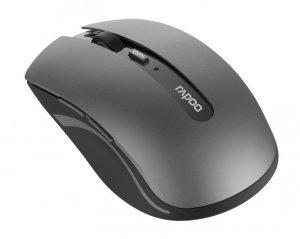 RAPOO Mysz optyczna bezprzewodowa 2.4GHz+BT 7200M szara