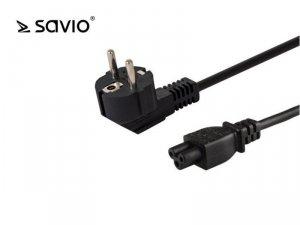 Elmak Przewód zasilający do laptopa koniczynka SAVIO CL-67 1,2m, wielopak 10 szt., 3pin