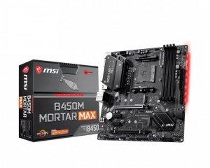 MSI Płyta główna B450M MORTAR MAX AM4 4DDR4 DP/HDMI/M.2 uATX