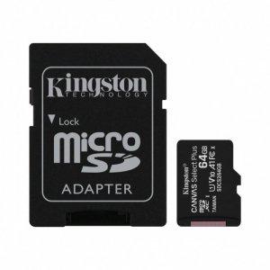 Kingston Karta pamięci microSD  64GB Canvas Select Plus 100MB/s Adapter