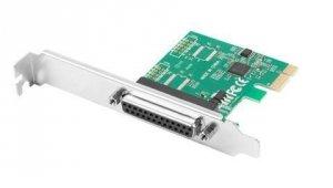 LANBERG Karta PCI EXPRESS LPT (DB25) X1 LANBERG + ŚLEDŹ LOW PROFILE