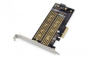 Digitus Karta rozszerzeń (Kontroler) M.2 NGFF/NVMe SSD PCIe 3.0 x4 SATA 110, 80, 60, 42, 30mm