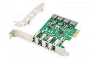 Digitus Karta rozszerzeń (Kontroler) USB 3.0 PCI Express 4xUSB 3.0 Low Profile Chipset: VL805