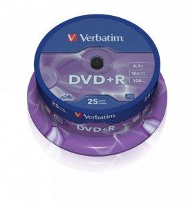 Verbatim DVD+R 16x 4.7GB 25P CB           43500