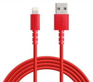 Anker Kabel PowerLine Select+ USB-A - LTG 6ft czerwony