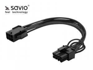 Elmak SAVIO AK-49 Kabel zasilający 6 pin F - PCI Express 8 pin M