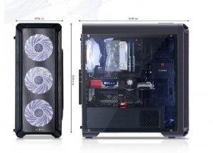 Zalman Obudowa I3 ATX Mid Tower PC Case White LED fan x4
