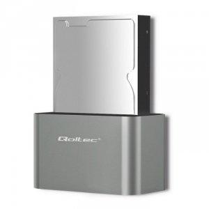 Qoltec Stacja dokująca dysków HDD/SSD | 2.5/3.5 SATA | USB 3.0