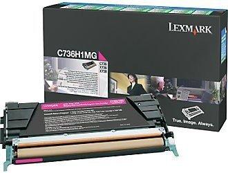 Lexmark Toner Optra C73x/X73x Magenta 10K C736H1MG