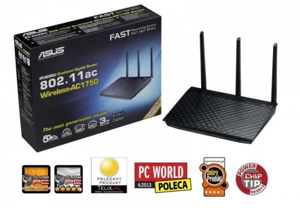 Asus RT-AC66U router WiFi AC1750 1WAN 4LAN-1GB 2USB