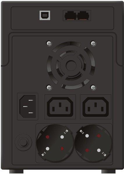 PowerWalker UPS POWER WALKER LINE-INTERACTIVE 2200VA 2X SCHUKO + 2X IEC OUT, RJ11/RJ45 IN/OUT, USB