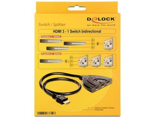 Delock Przełącznik na 3 Urządzenia (3xHDMI) Dwukierunkowy