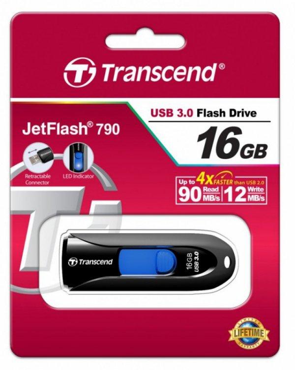 Transcend JETFLASH 790 16GB USB3 BLACK
